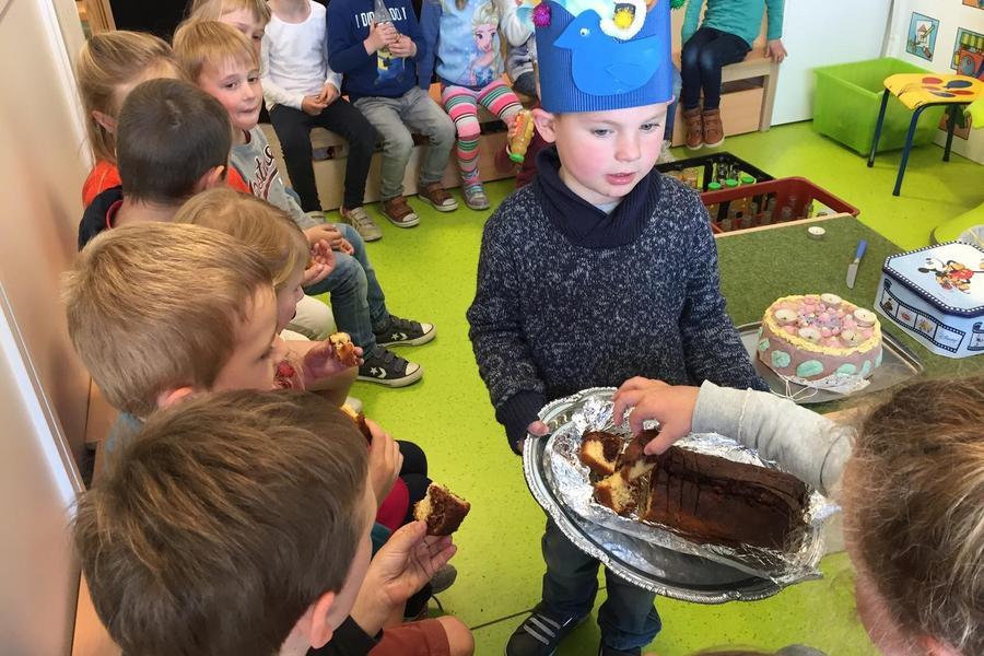 Lekkere cake proeven